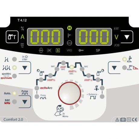 EWM Tetrix 200 DC comfort 2.0 čelna plošča